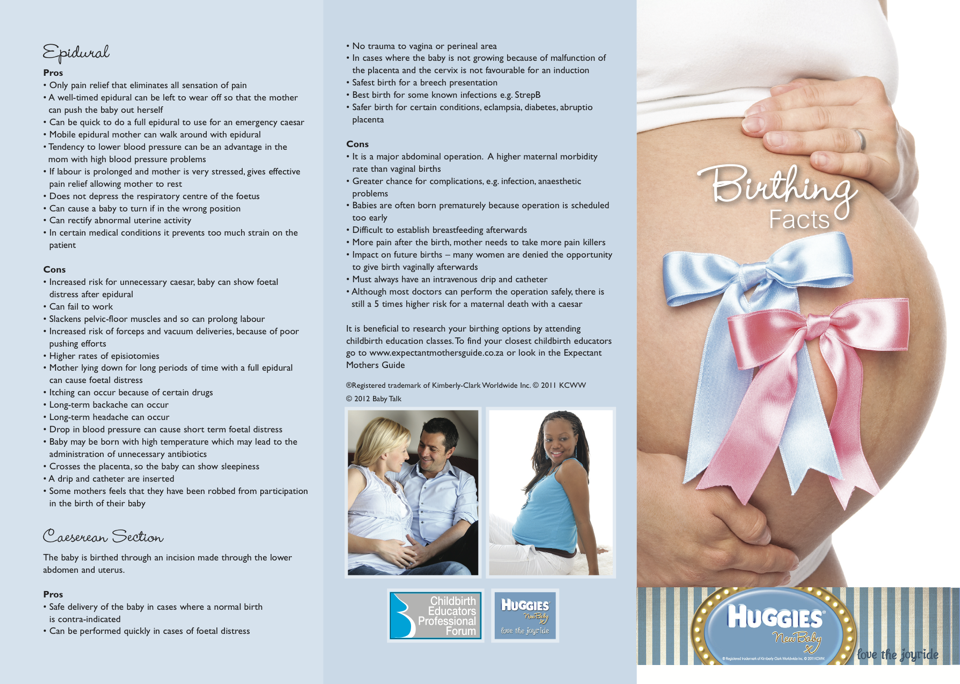 Birthing Facts Pamphlet Side 1