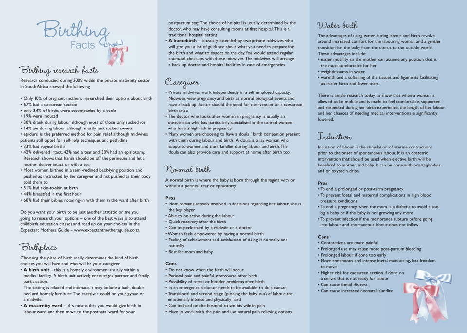 Birthing Facts Pamphlet Side 2