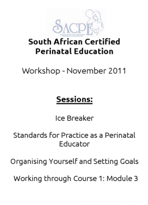 Perinatal Workshop - November 2011