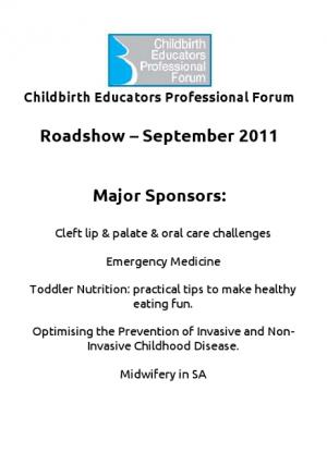 Roadshow DVD - September 2011: Sponsors