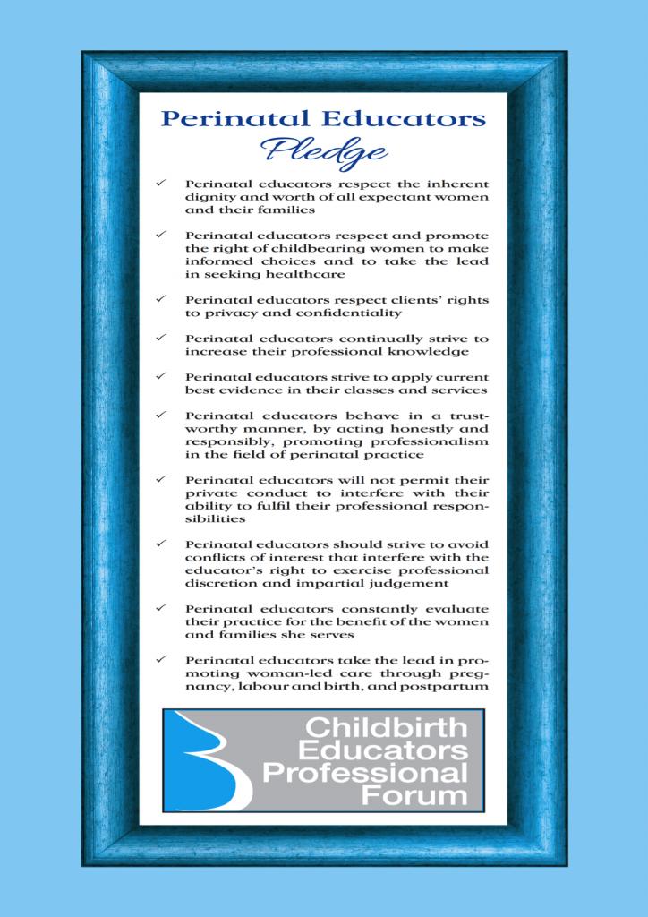 Perinatal Pledge Poster